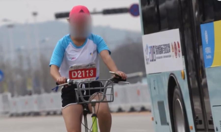 Marathon runner gets lifetime ban after being spotted using a bike