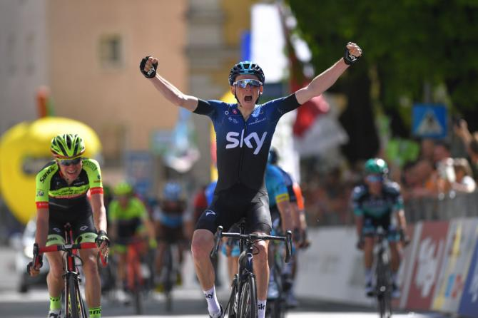Tao Geoghegan Hart wins Tour of the Alps stage 1