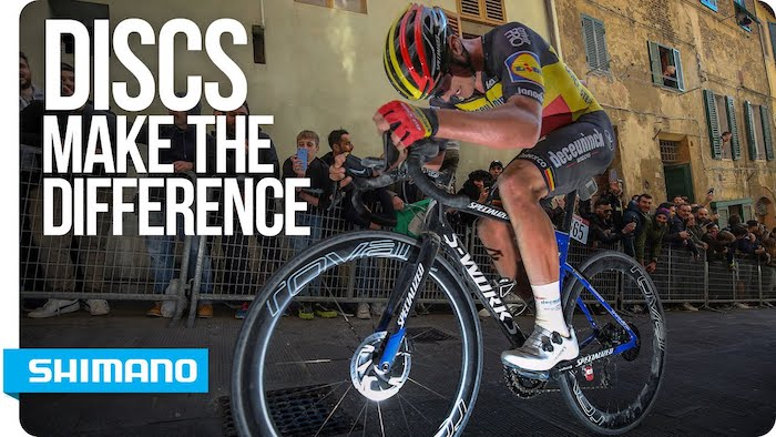 Disc brakes big advantage over teams that don't have them